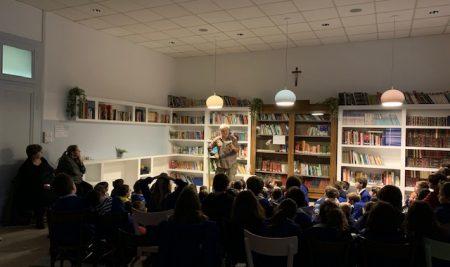 """UN'AFFABULAZIONE con Marco di Stefano alla Biblioteca """"Eleonora Giustozzi"""" dell'Istituto San Giuseppe"""